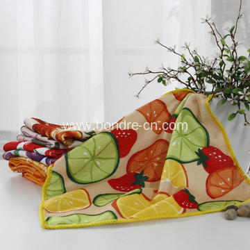 Printed Microfiber Kitchen Cleaning Towel