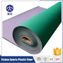 Suelo de la cancha de deportes del vinilo del PVC de los tenis de mesa de 5m m en rollo
