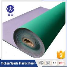 Plancher de court de tennis de vinyle de PVC de tennis de table de 5mm dans le petit pain