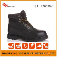 Black Action Leather Rubber Cement Japanese Work Boots RS216
