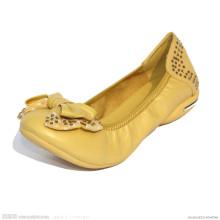 Gelbe Faltbare Roll-up Damenschuhe