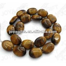 15x20mm natural tigereye pedra plana contas ovais