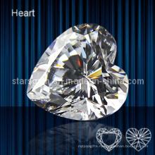 Кубический цирконий формы сердца высокого качества