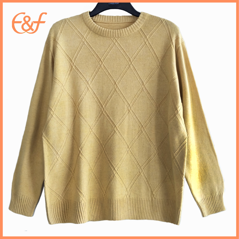 Basic Style Jumper Pure Color Pullover Sweater