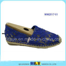 Women Hemp Rope Rubber Casual Shoes with Lace
