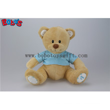 """11"""" Softest Stuffed Brown Bear Toy Baby Kids Toy with Blue T-Shirt"""
