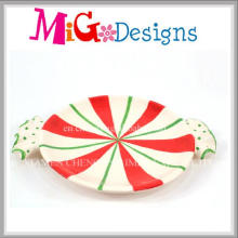 Factory Price Christmas Design Ceramic Candy Plate and Dish