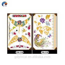Gold jewellery Metallic Intim Sticker Body Tattoo with High Standard, bride tribe tattoo sticker