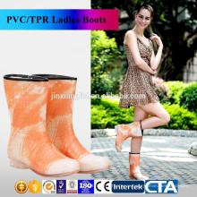JX-995OR New Fashion rain boots Environmental latest design Warm ladies rain boots