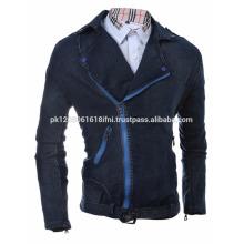 denim mens and women front zipper jeans jacket fashion style oem club wear