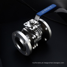 Válvula de esfera de flutuação de aço inoxidável da carcaça de investimento com punho