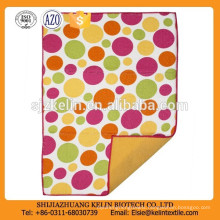 cheap custom dot pattern microfiber tea towel printing