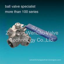 Standard Port Stainless Steel 3-Way Ball Valve