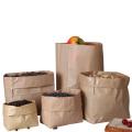 Custom Cheap Food Packaging Brown Kraft Paper bread Bag, Wholesale accept custom greaseproof FOOD PAPER BAG