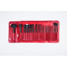 24 PCS Christmas Eve Makeup Brush with Red PU Bag