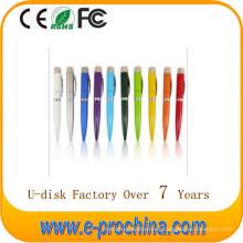 Disco flash USB de la pluma del logotipo de Customed de la venta caliente para la promoción para la muestra libre