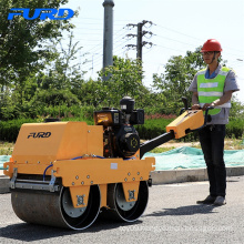 Electric Start 550kg Double Drum Small Vibratory Soil Compactor