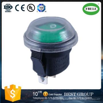 Interruptor de eje de balancín redondo miniatura iluminado Interruptor de eje de balancín miniatura rojo