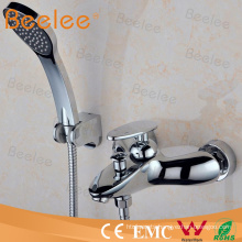 Contemporary in-Wall Mounted Bathroom Bath Shower Mixer Faucet Inc Hose and Handset Chrome Plated