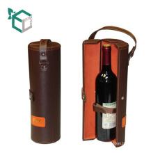 Настройки искусственная кожа высокая конец кожаная ручка коробки перевозчик перевозчик пробки бумаги вина вино
