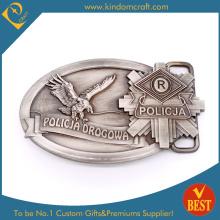 Boucle de ceinture en argent antique de police personnalisée 2015 (KD-0119)