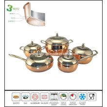 3ply Apple Shape Copper Cookware Set