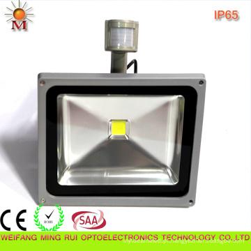 Luz de inundação do diodo emissor de luz de Ce / RoHS / SAA / Water / 50W com sensor de movimento