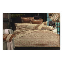 Tencel/cotton jacquard+embroidery luxury wedding bed sheets