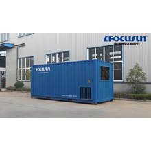 High quality and efficiency containerized 1 ton direct refrigeration block ice machine with hot sale