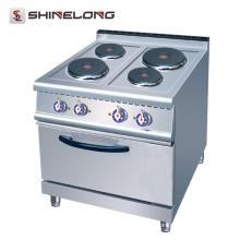 Heißer Verkäufer 700 Reihe elektrischer 4-Platten-Kocher mit Ofen im Restaurant