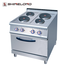 Hot seller 700 Series Electric 4-Plate Cooker With Oven in restaurant