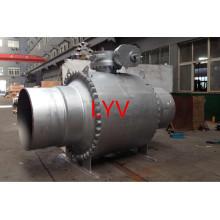 Приводом кованые по API большой размер ISO полностью сварные шаровые краны для газа и воды