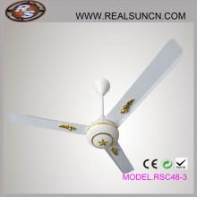 Ventilador de teto de 48 polegadas com controle de 5 velocidades