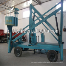 Electric 12m working height trailer mounted boom lift cheap