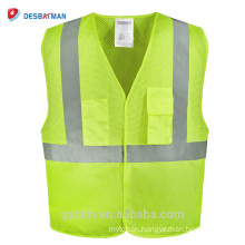 China factory wholesale top quality the newest safety security guard reflective safety vest with pockets