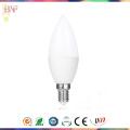 Luz directa de la fábrica LED C37 E27 / E14 / bulbo de la vela de Warmwhite para 3W / 5W7w / 9W