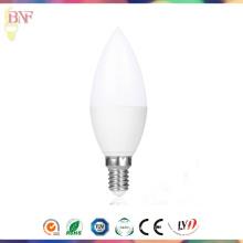 Ampoule de bougie de la lumière E14 LED du jour C37 en gros de l'éclairage de Hangzhou