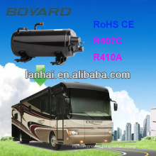 CE RoHS Auto Air Conditioning Horizontal Rotary Compressor for van roof mounted camping tent air conditioner