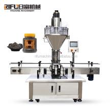 High Quality MilkTea Coffee Soy bean Sesame Powder filling machine for plastic bottles powder auger filler production line