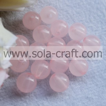 Colorful Transparent Acrylic Plastic Round Jelly Beads