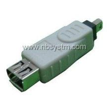 Adaptador hembra FireWire 1394 4P macho a 6P