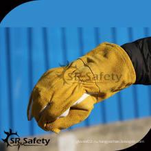 SRSAFETY Высококачественная рабочая сварка коровы с разделенными кожаными перчатками