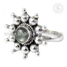 Delicate Labradorite Gemstone Silver Ring venta al por mayor 925 Joyería de Plata de ley jaipur Joyería de plata en línea hecha a mano