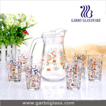 7PCS Printing Water Set Glassware GB12039-Thyh