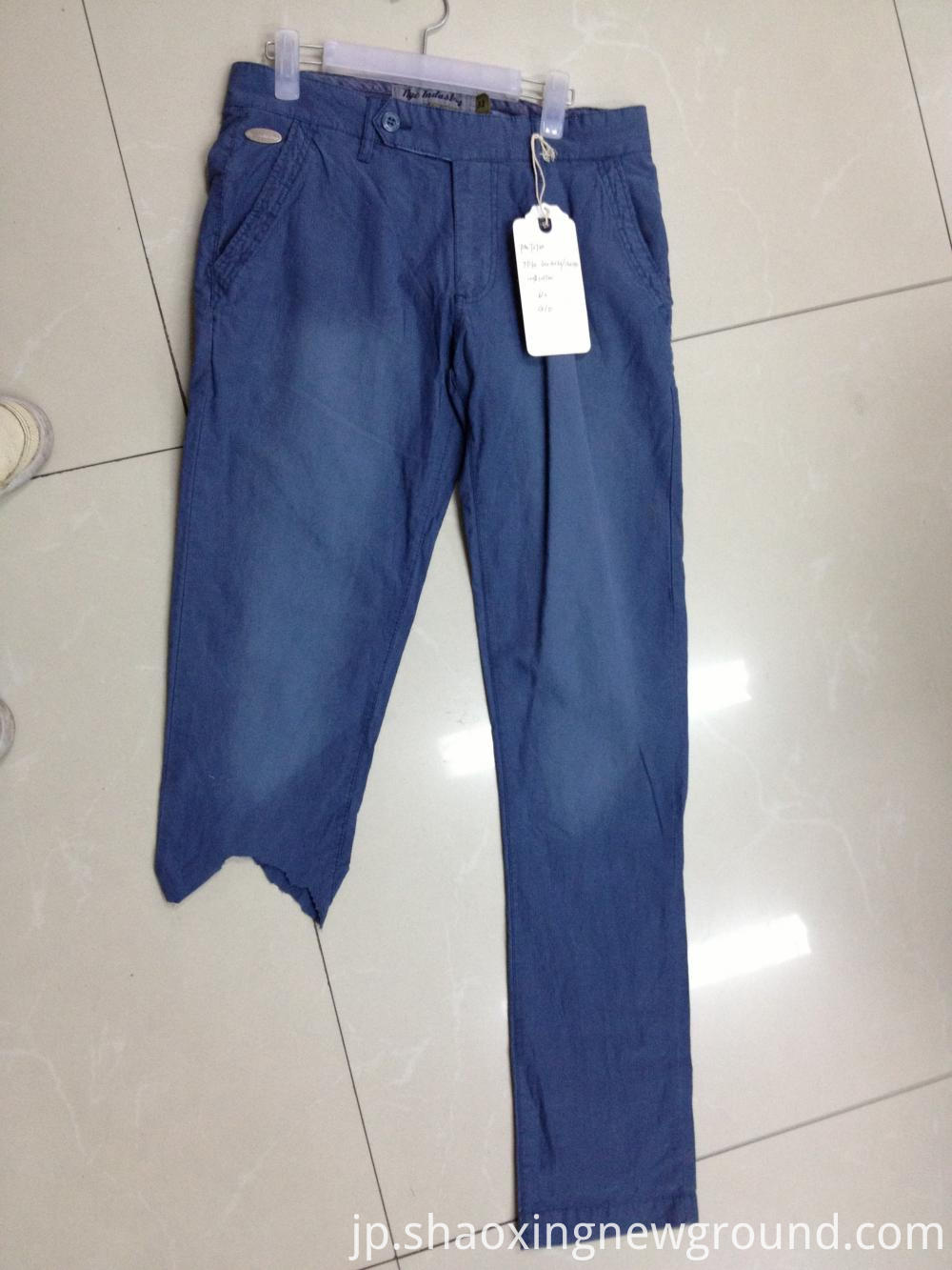 blue cotton men's pant