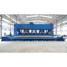 Wide-width door type rubber vulcanizing press