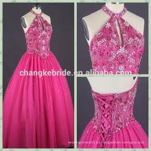 El quinceanera rojo clásico vendedor caliente de la parada de Rose del vestido de bola del estilo se viste CK0809