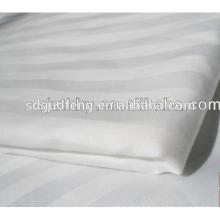 C40 * 40 140 * 110 tissu 100 coton blanc satin bande tissu satin stripe drap de lit pour hôtel