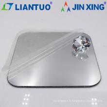 Feuilles en plastique acrylique couleur miroir argenté de haute qualité