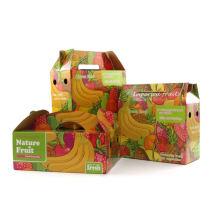 Dongguan manufacturer Custom Design Low Price multi sizes cardboard corrugated paper Fruit Packaging Boxes Banana Carton Box